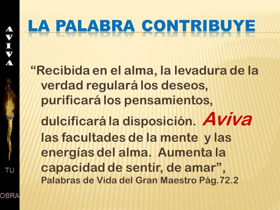 AVIVA LA PALABRA CONTRIBUYE.