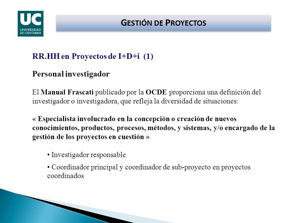 GESTIÓN DE PROYECTOS RR.HH en Proyectos de I+D+i (1)
