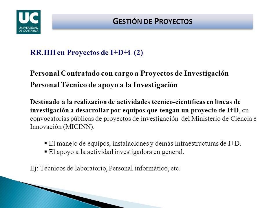 GESTIÓN DE PROYECTOS RR.HH en Proyectos de I+D+i (2)