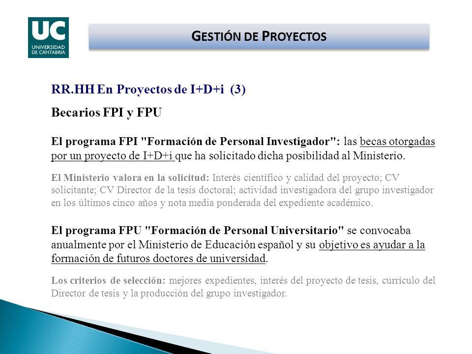 GESTIÓN DE PROYECTOS RR.HH En Proyectos de I+D+i (3)