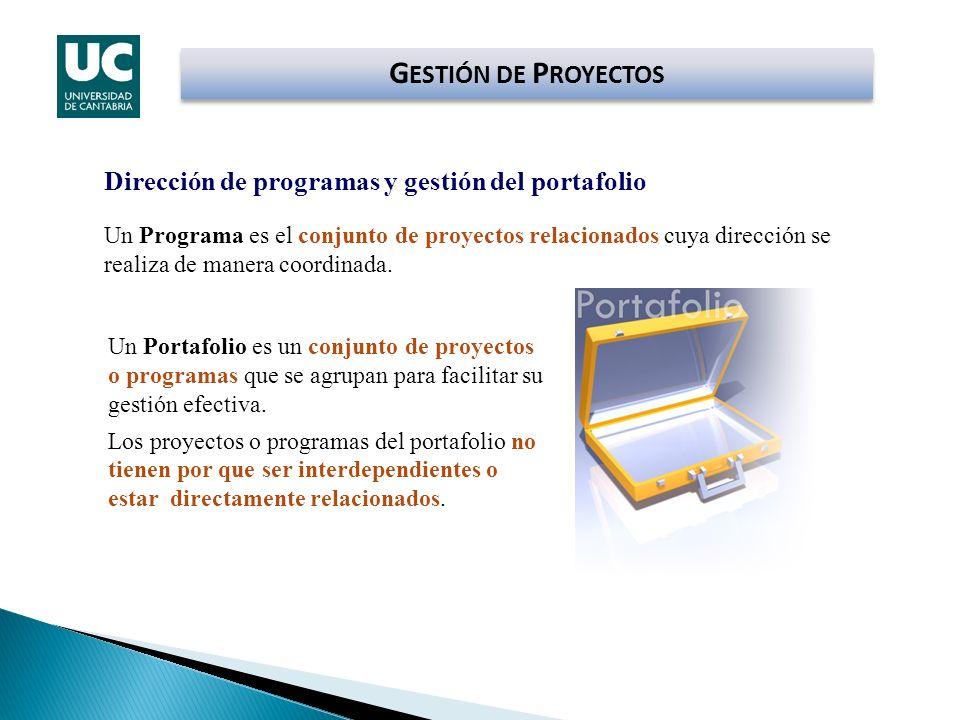 GESTIÓN DE PROYECTOS Dirección de programas y gestión del portafolio