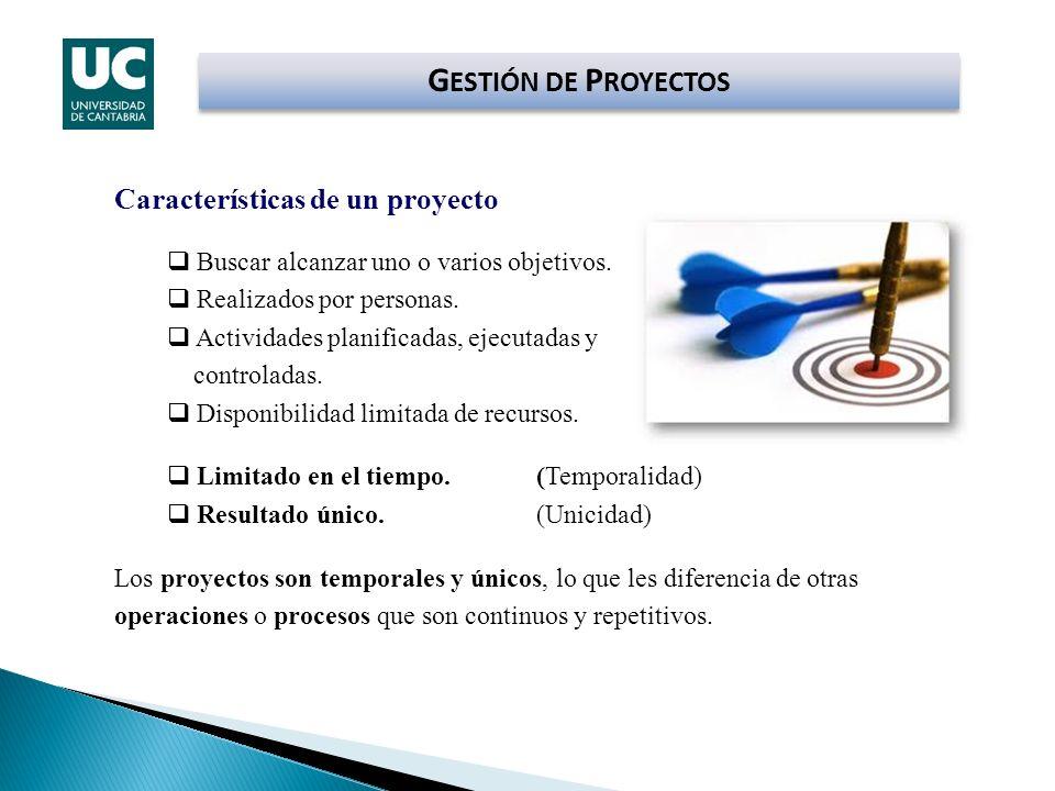 GESTIÓN DE PROYECTOS Características de un proyecto