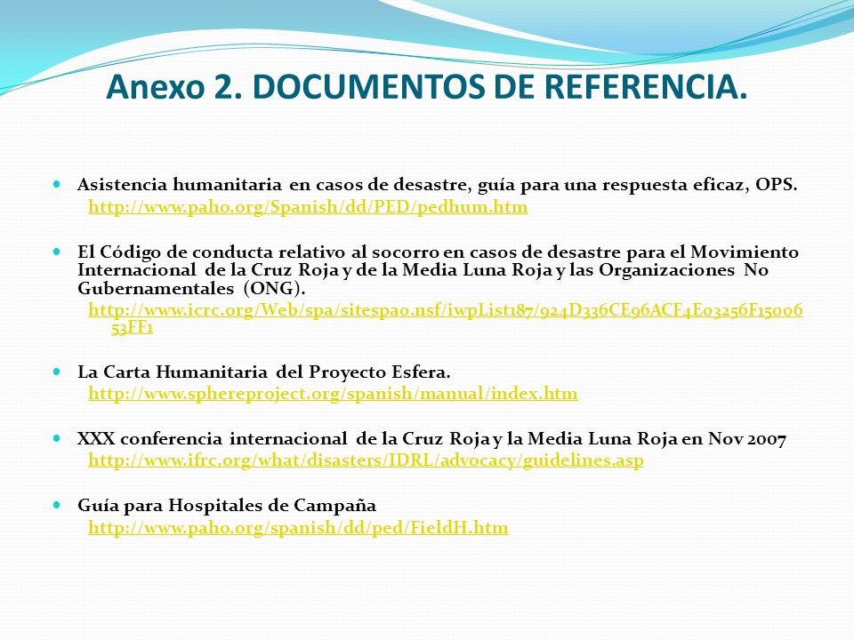 Anexo 2. DOCUMENTOS DE REFERENCIA.
