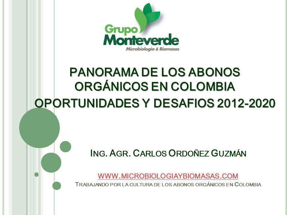 PANORAMA DE LOS ABONOS ORGÁNICOS EN COLOMBIA