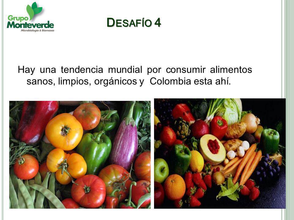 Desafío 4 Hay una tendencia mundial por consumir alimentos sanos, limpios, orgánicos y Colombia esta ahí.