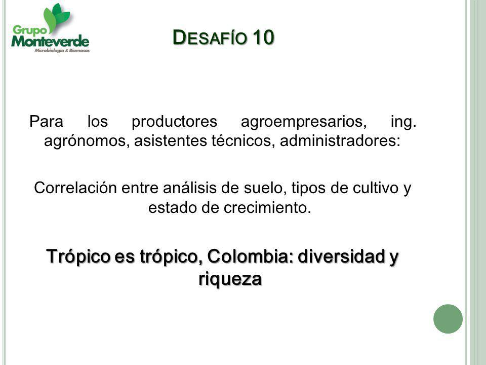 Trópico es trópico, Colombia: diversidad y riqueza