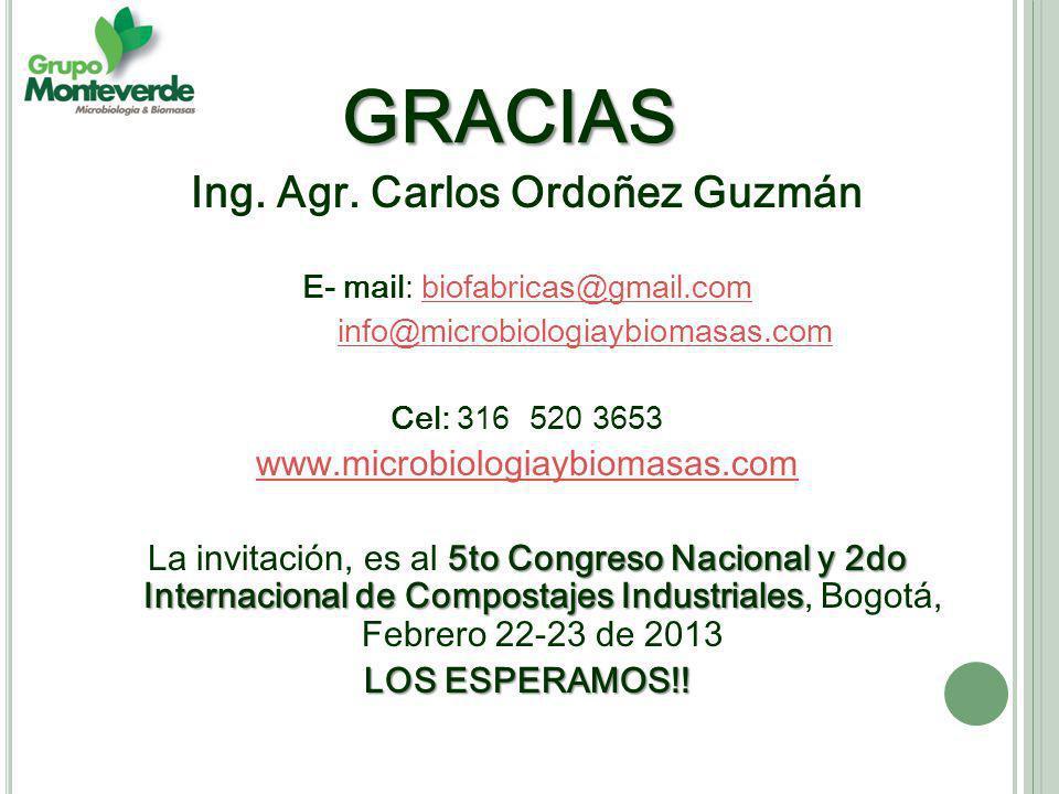 Ing. Agr. Carlos Ordoñez Guzmán