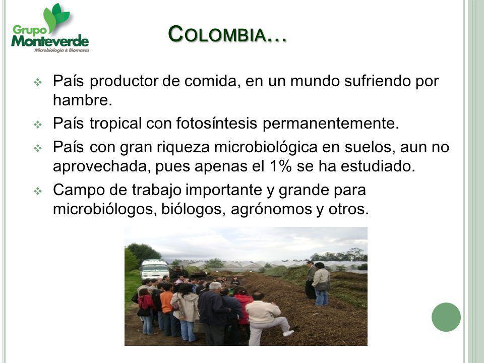 Colombia… País productor de comida, en un mundo sufriendo por hambre.
