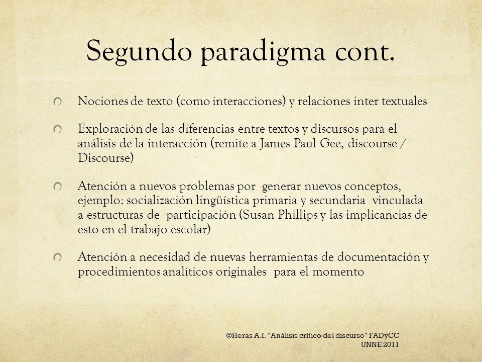 Segundo paradigma cont.