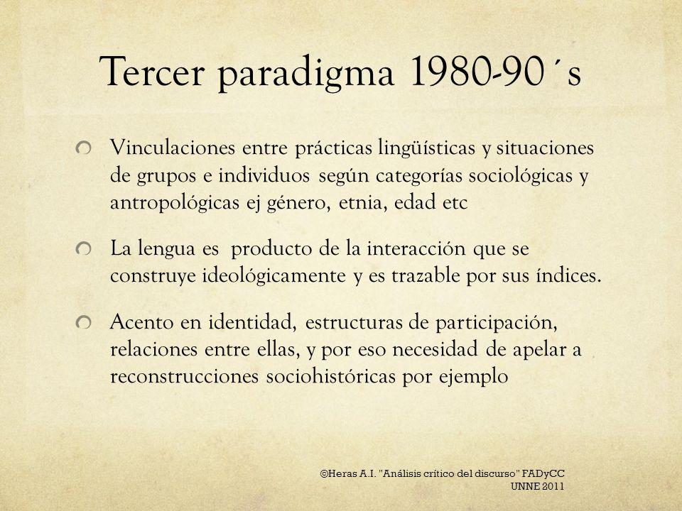 Tercer paradigma 1980-90´s