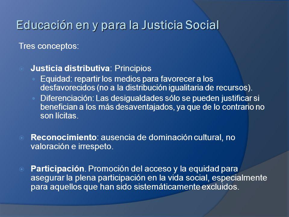 Educación en y para la Justicia Social