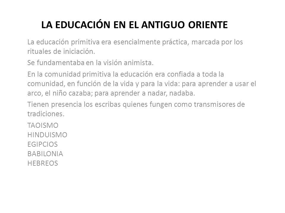 LA EDUCACIÓN EN EL ANTIGUO ORIENTE