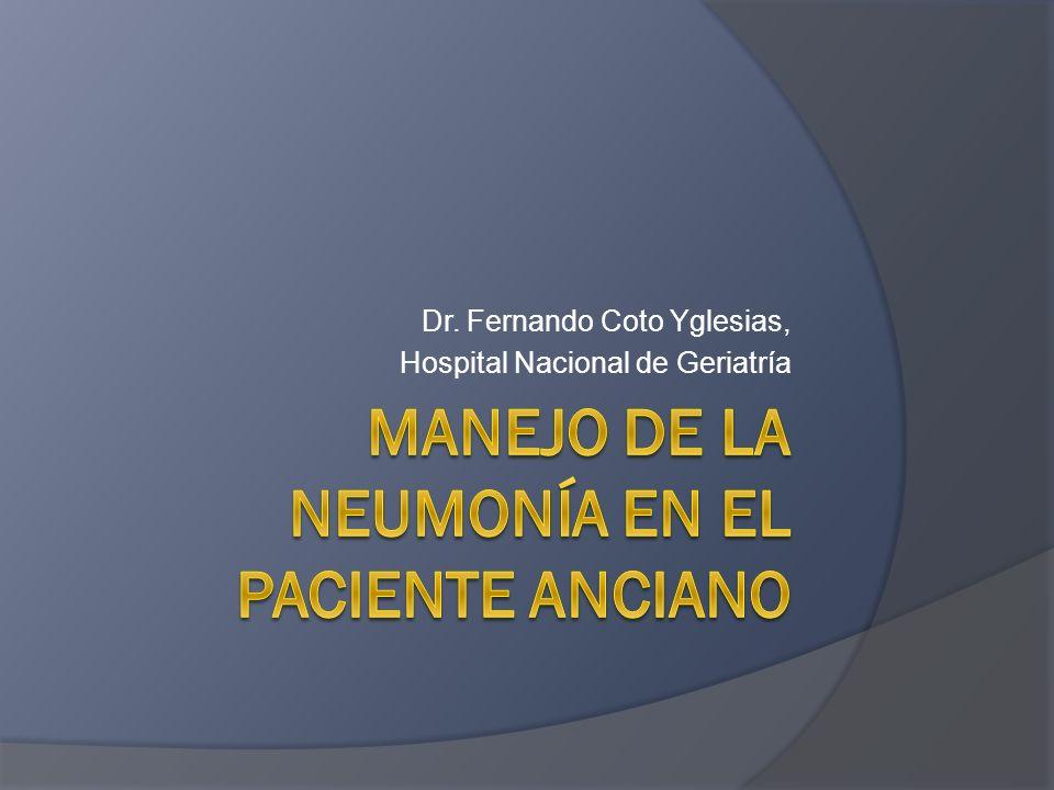 Manejo de la Neumonía en el paciente anciano