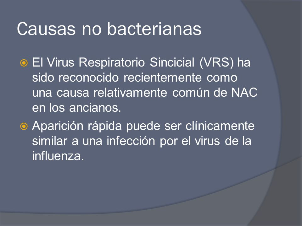 Causas no bacterianas