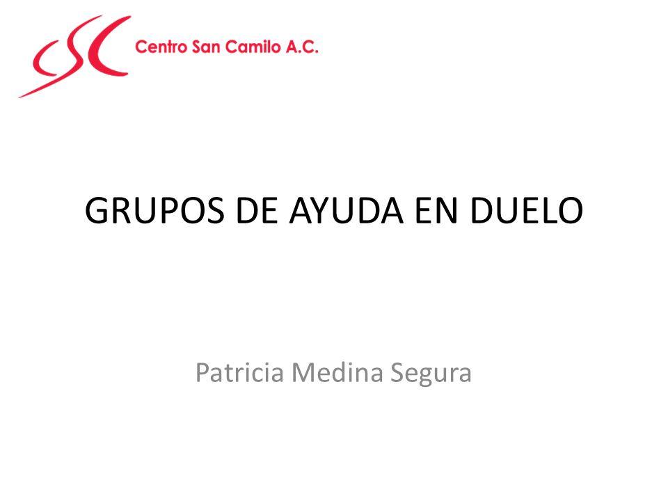 GRUPOS DE AYUDA EN DUELO