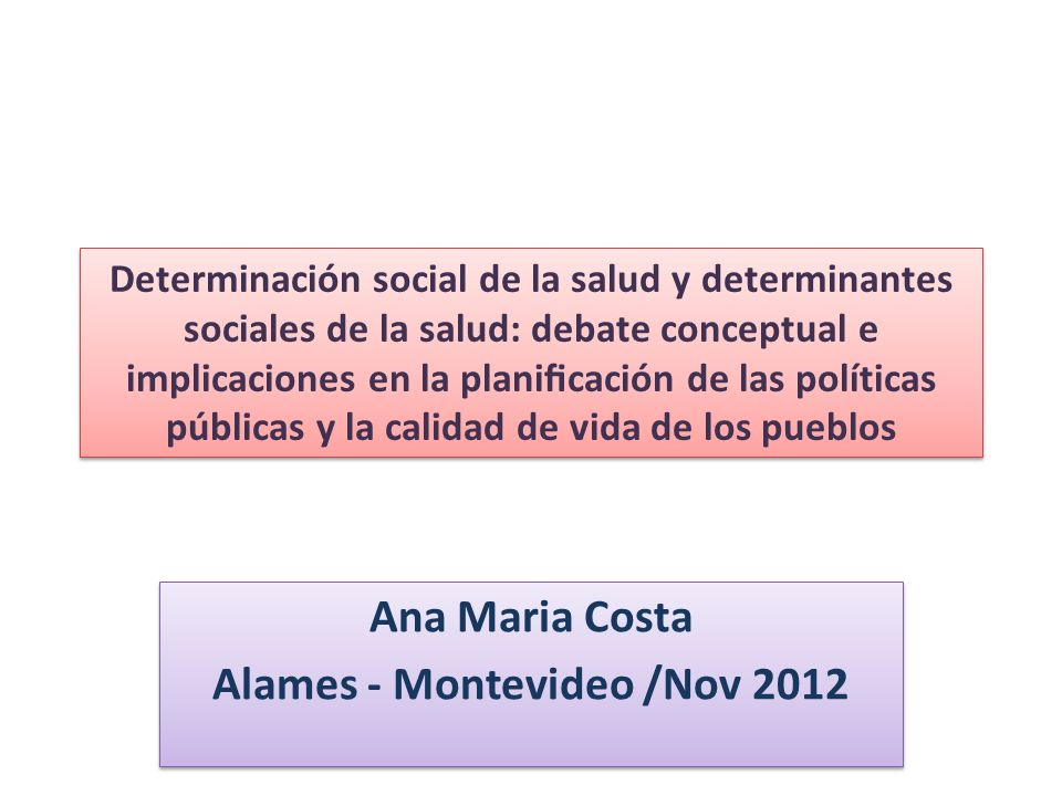 Ana Maria Costa Alames - Montevideo /Nov 2012