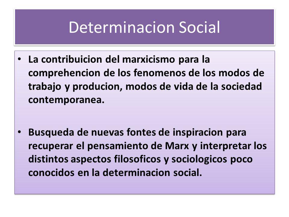Determinacion Social