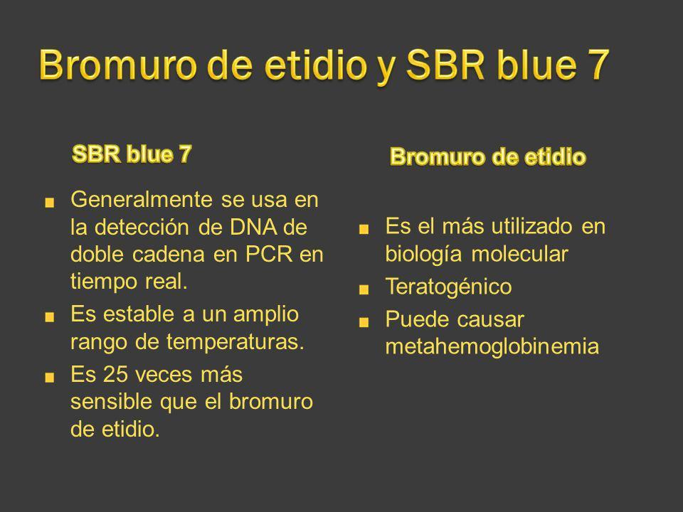Bromuro de etidio y SBR blue 7