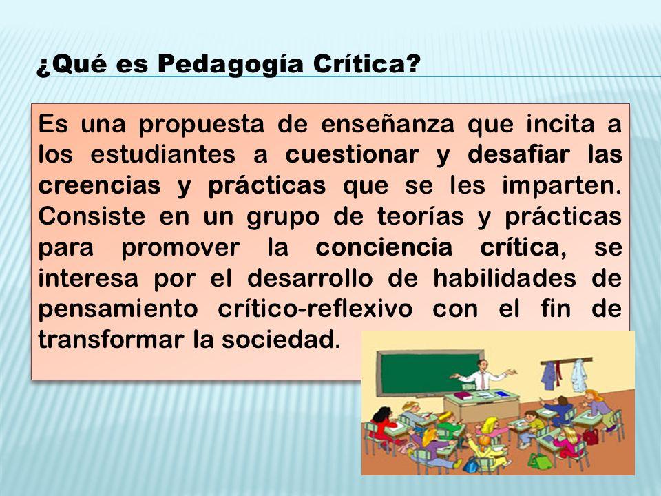 ¿Qué es Pedagogía Crítica