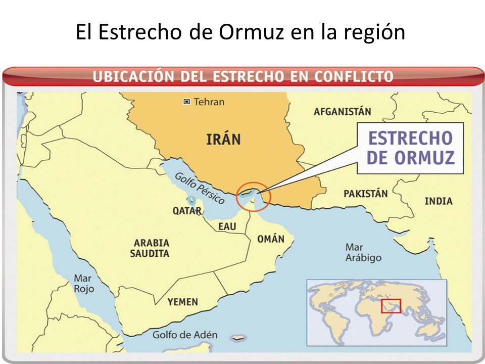 El Estrecho de Ormuz en la región