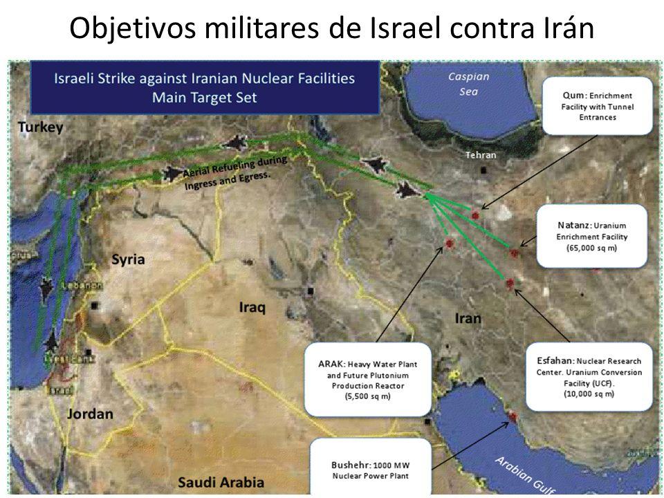 Objetivos militares de Israel contra Irán