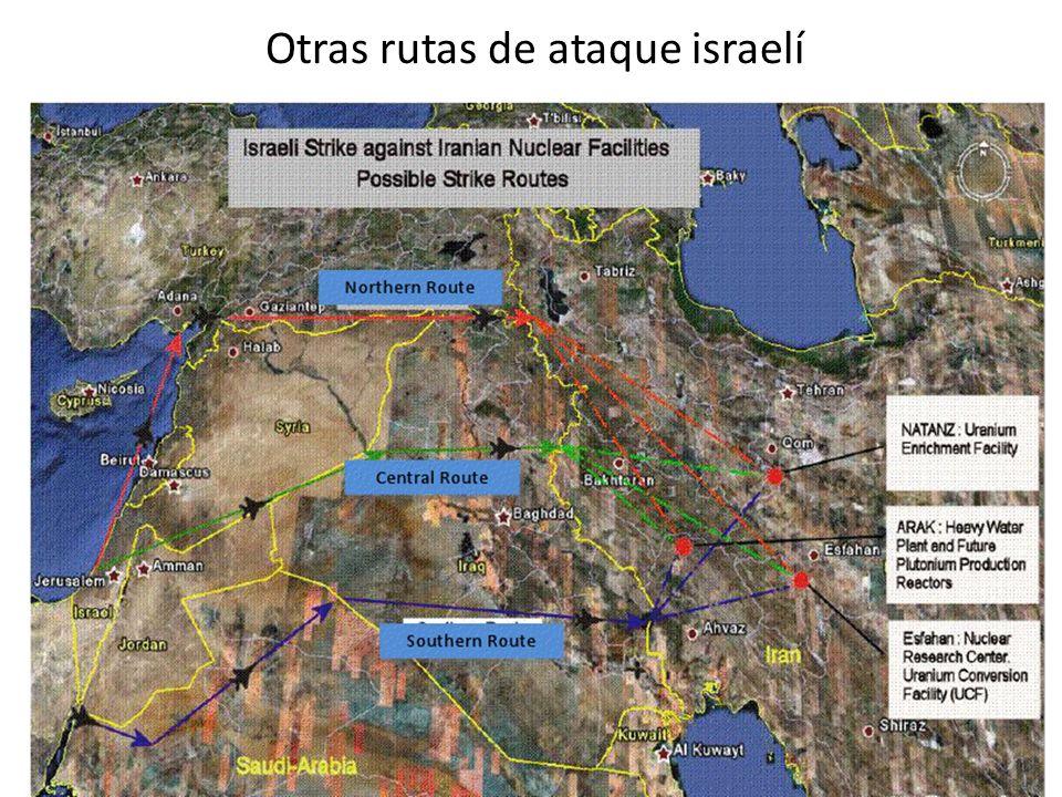 Otras rutas de ataque israelí