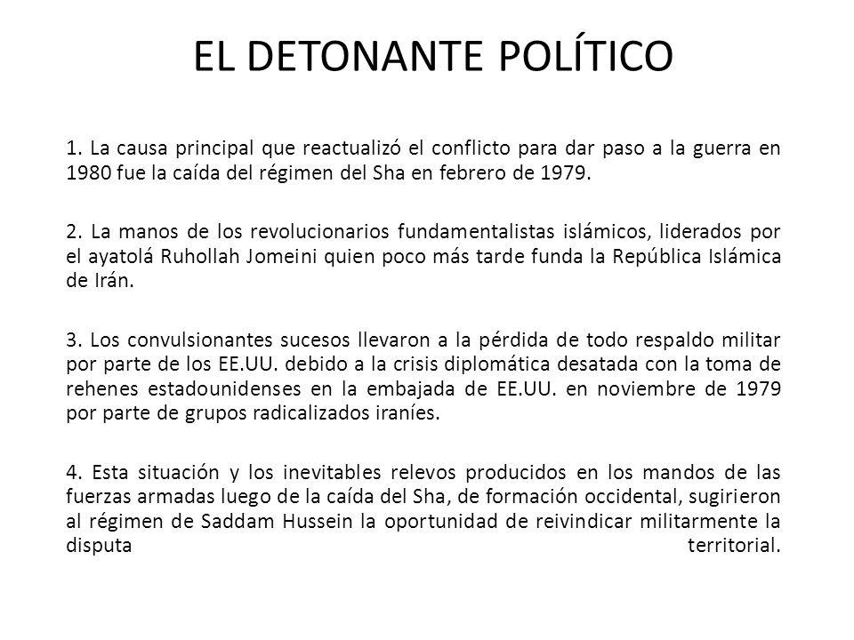 EL DETONANTE POLÍTICO