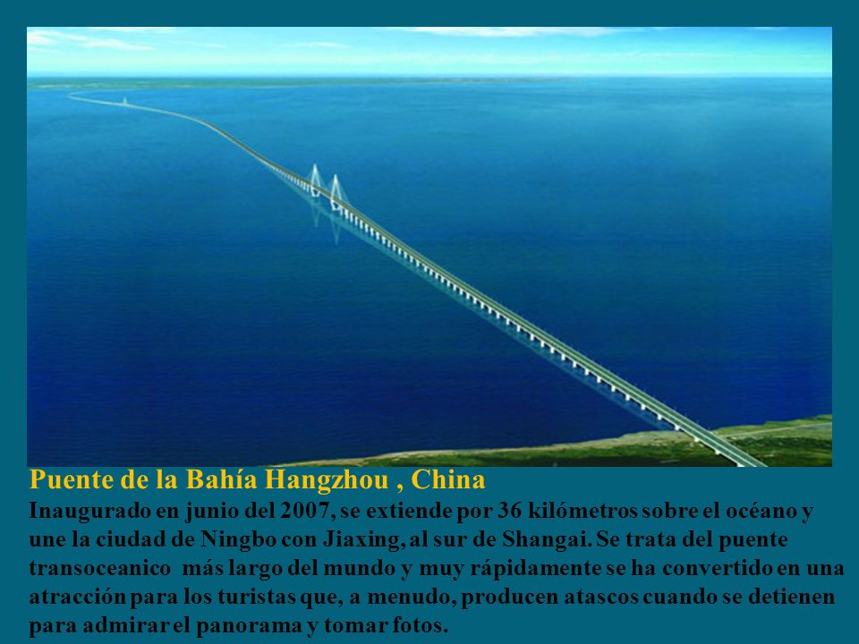Puente de la Bahía Hangzhou , China