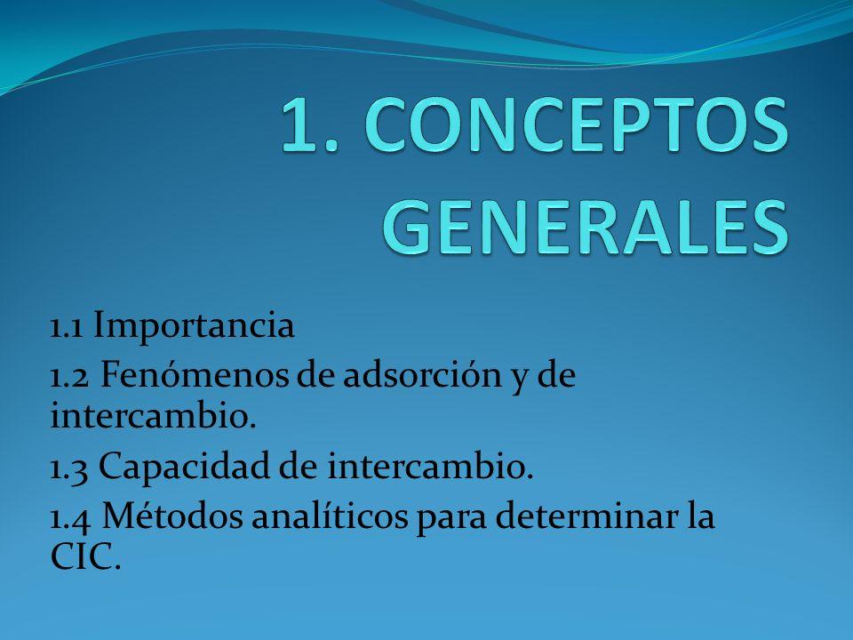 1. CONCEPTOS GENERALES 1.1 Importancia