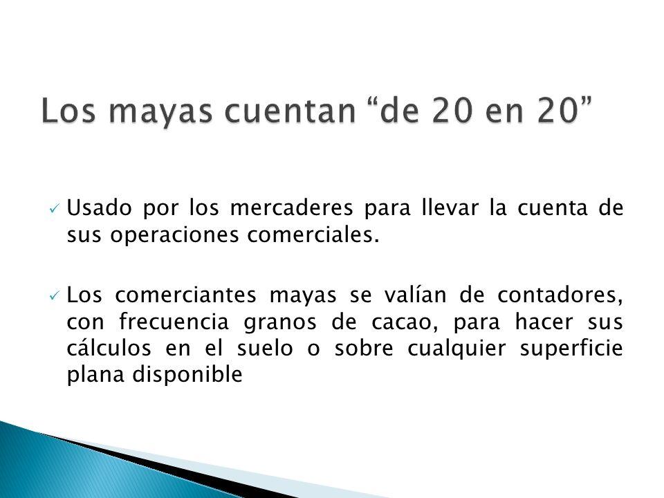 Los mayas cuentan de 20 en 20