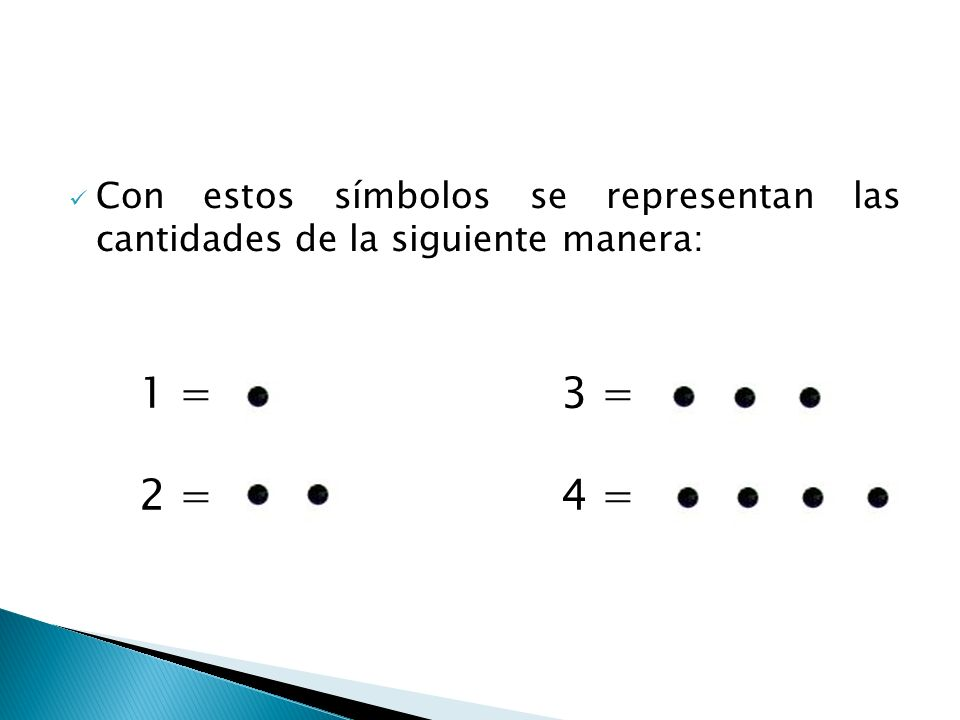 Con estos símbolos se representan las cantidades de la siguiente manera: