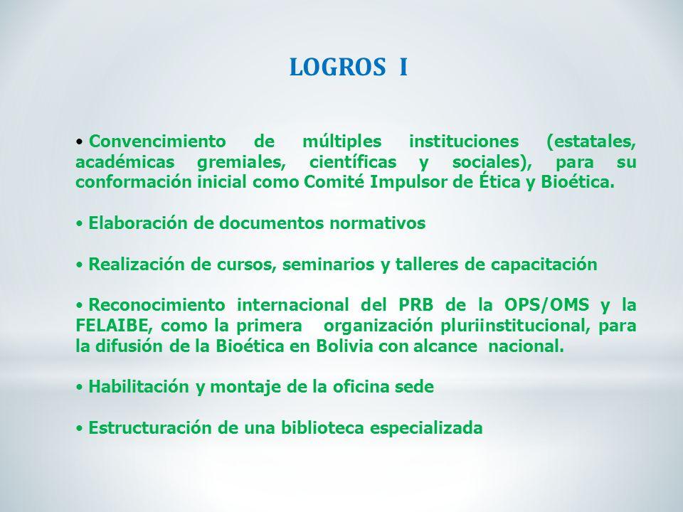 LOGROS I
