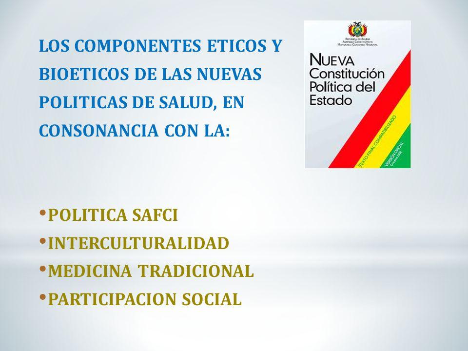 LOS COMPONENTES ETICOS Y