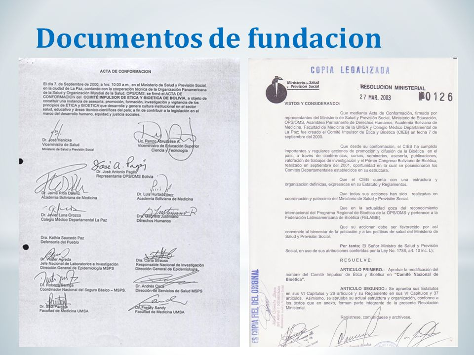 Documentos de fundacion