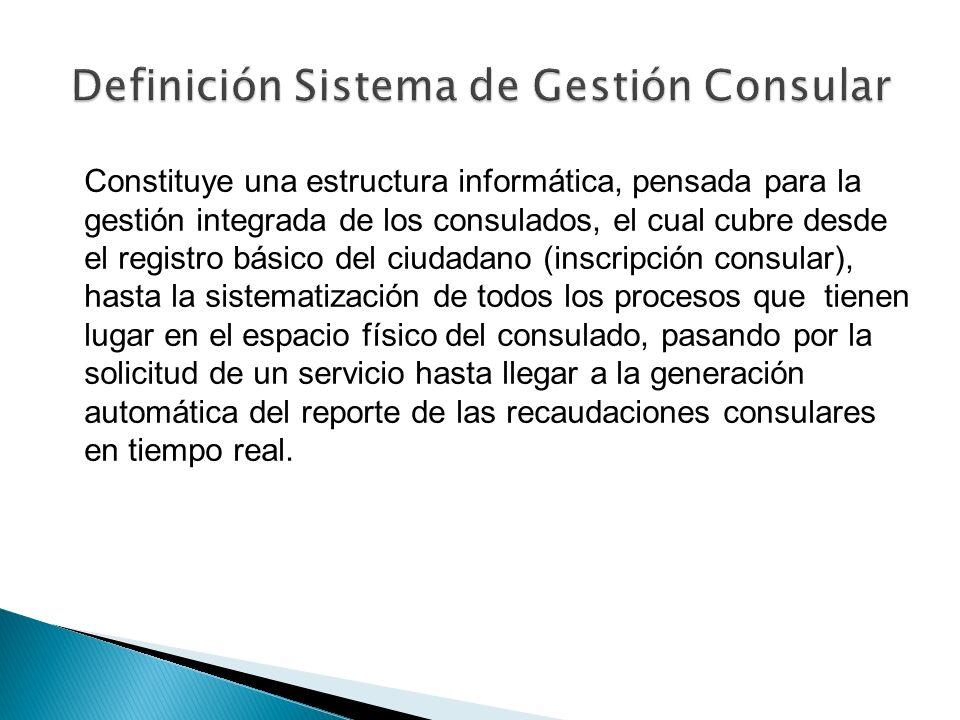 Definición Sistema de Gestión Consular