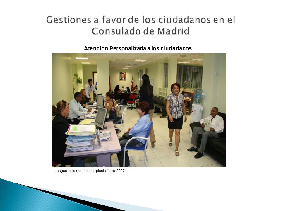 Gestiones a favor de los ciudadanos en el Consulado de Madrid