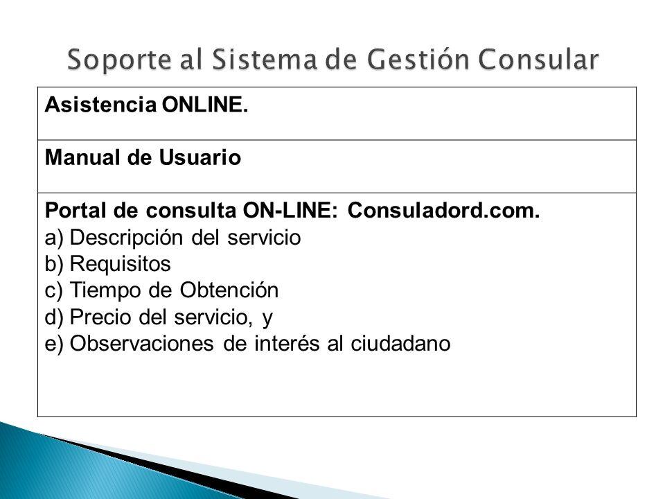 Soporte al Sistema de Gestión Consular