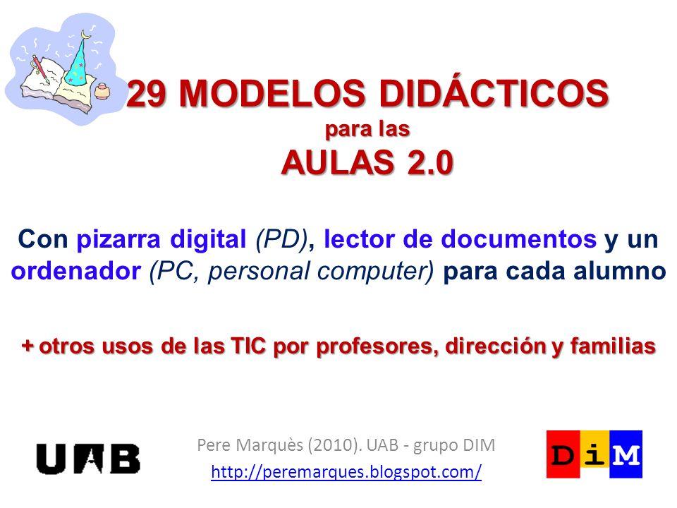 29 MODELOS DIDÁCTICOS para las AULAS 2.0