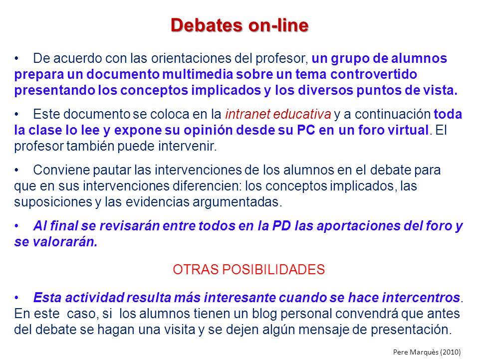 Debates on-line