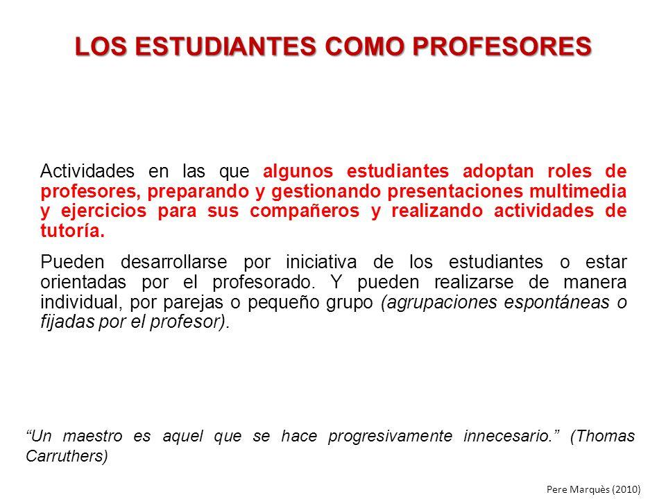 LOS ESTUDIANTES COMO PROFESORES