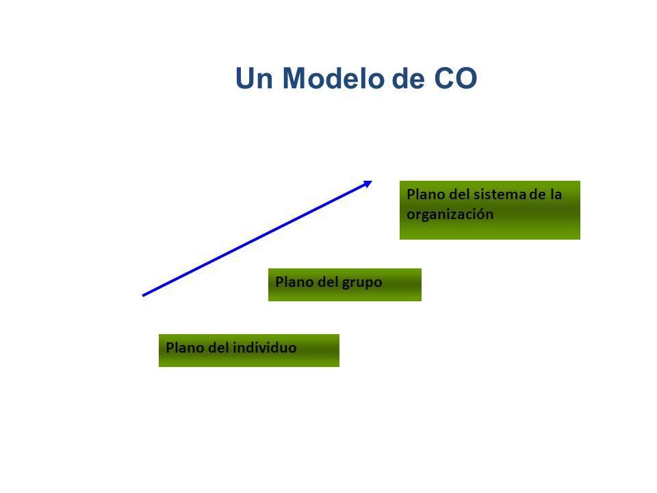 Un Modelo de CO Plano del sistema de la organización Plano del grupo