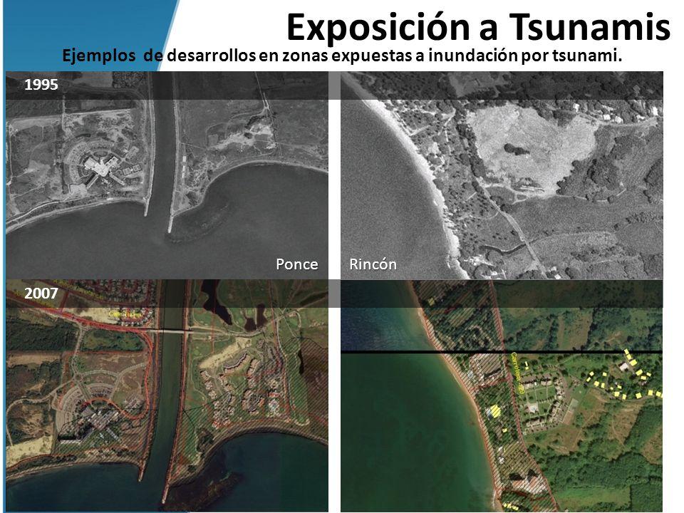 Ejemplos de desarrollos en zonas expuestas a inundación por tsunami.