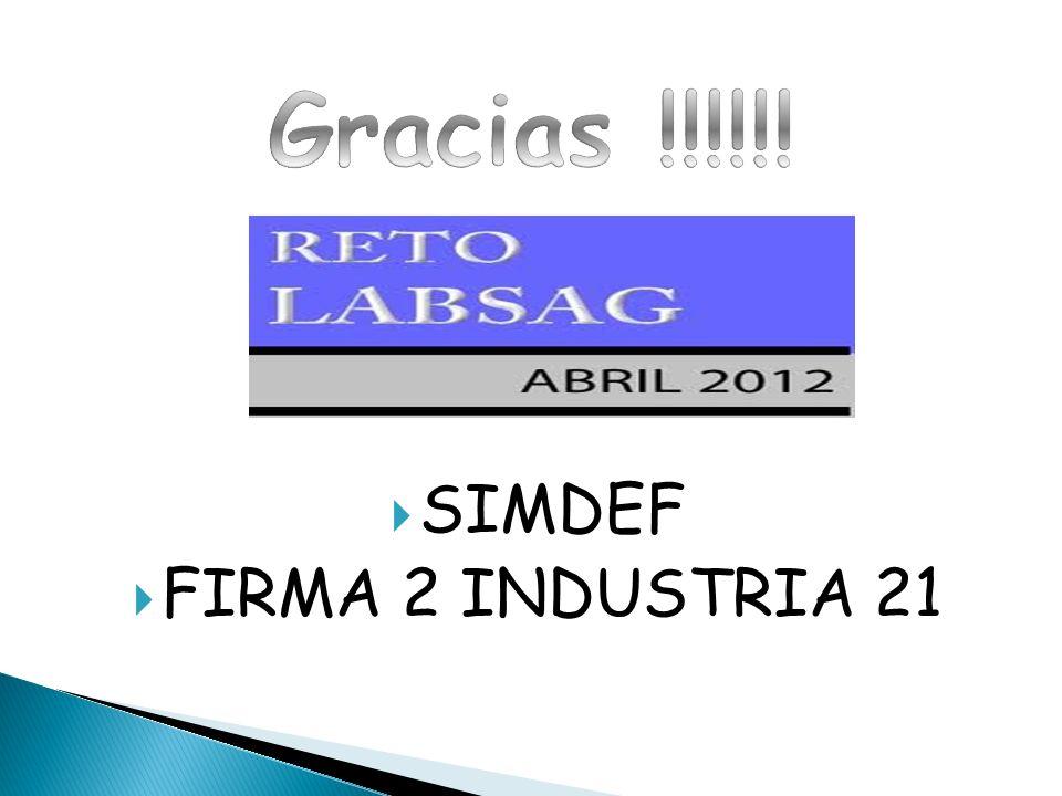 Gracias !!!!!! SIMDEF FIRMA 2 INDUSTRIA 21