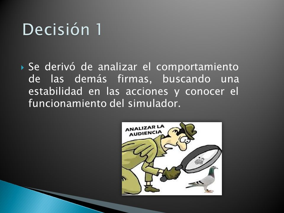 Decisión 1