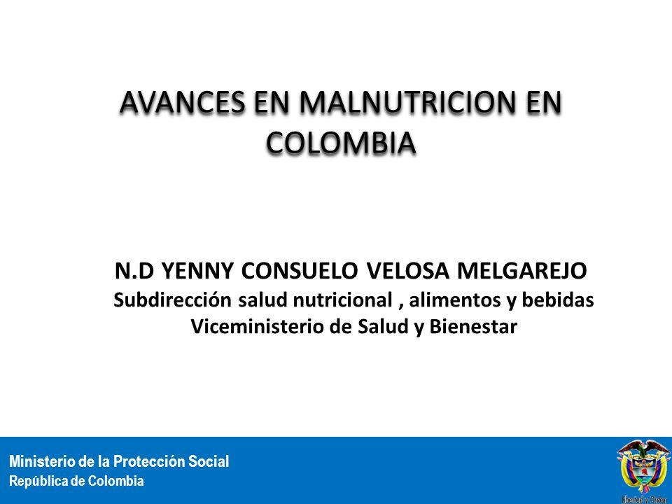 AVANCES EN MALNUTRICION EN COLOMBIA