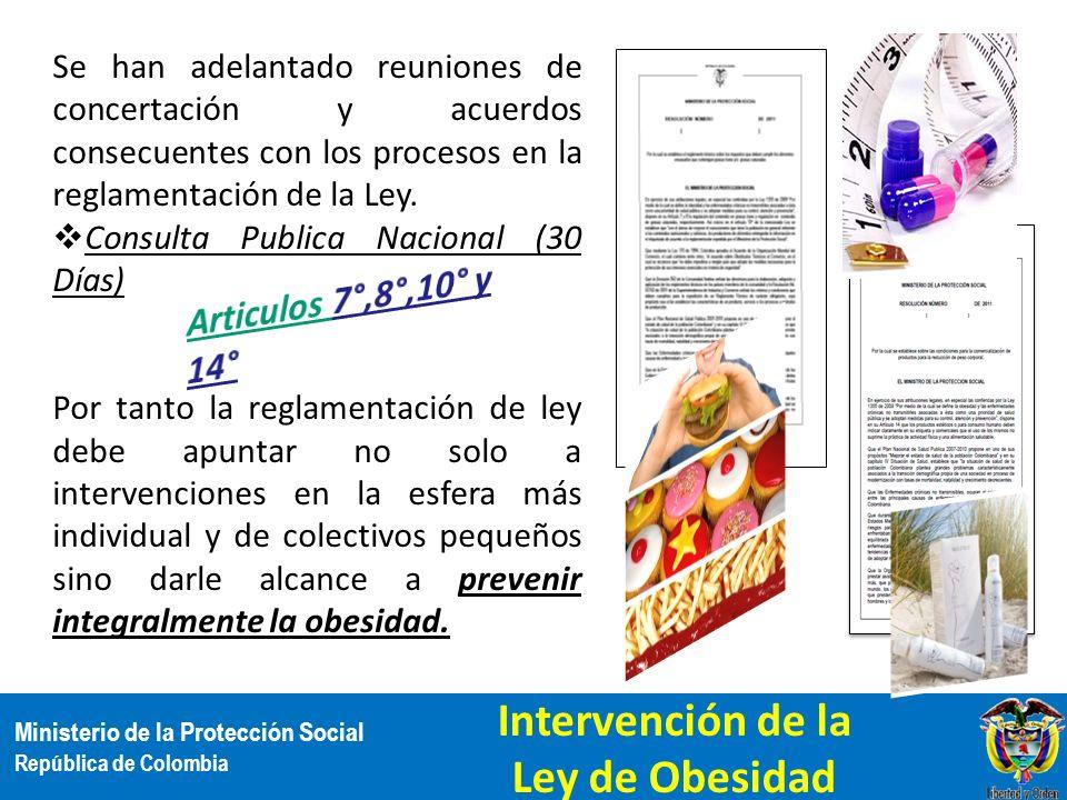 Intervención de la Ley de Obesidad