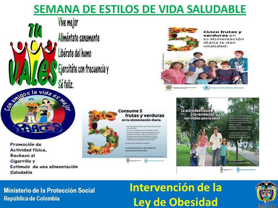 SEMANA DE ESTILOS DE VIDA SALUDABLE