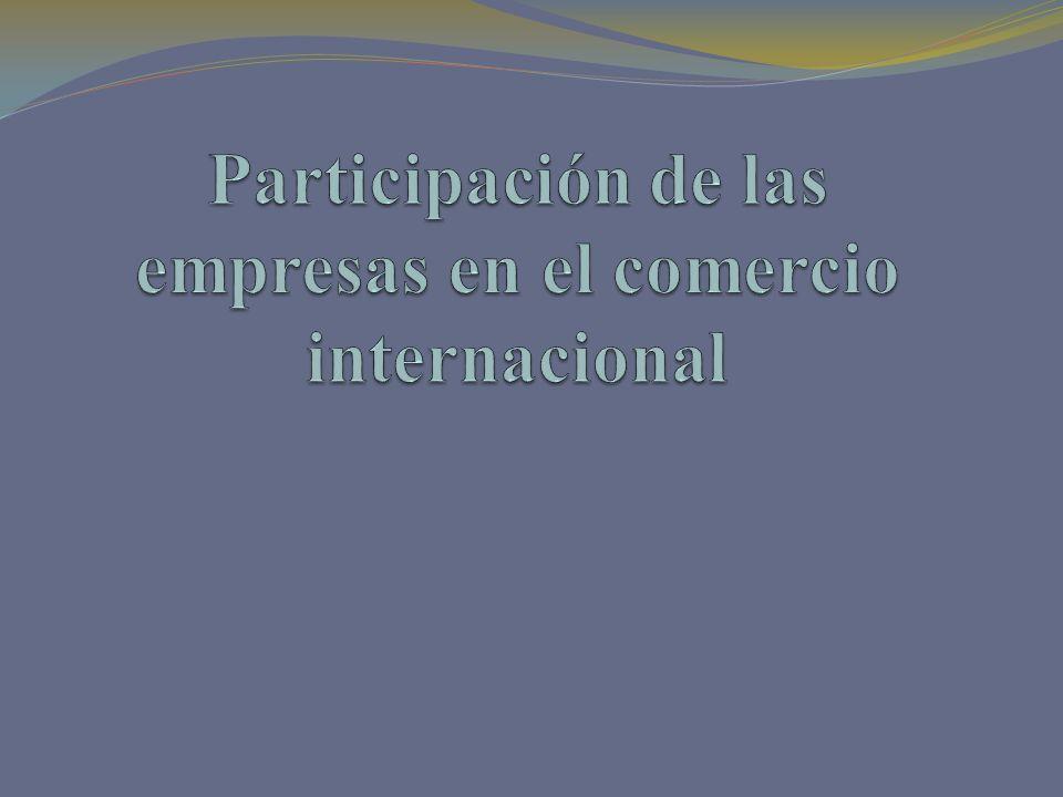 Participación de las empresas en el comercio internacional