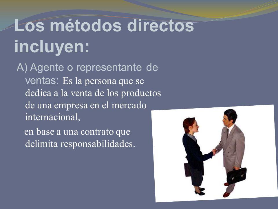 Los métodos directos incluyen: