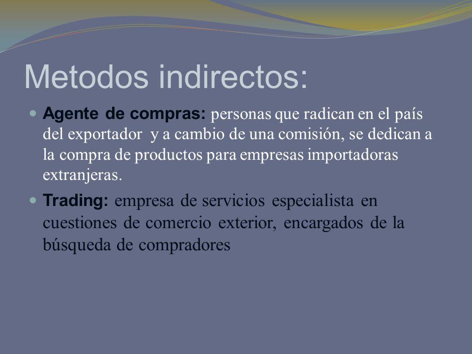 Metodos indirectos: